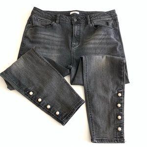 Kensie Skinny Ankle Cropped Jeans Size 14